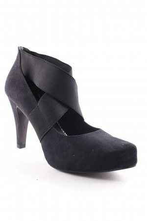 Marco Tozzi Escarpins Mary Jane noir style simple