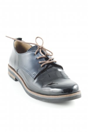 Marco Tozzi Oxfords dark blue-brown wet-look