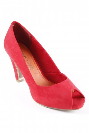Marco Tozzi Peeptoe Pumps rot-ziegelrot Casual-Look