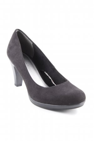 Marco Tozzi Plateau-Pumps schwarz-silberfarben Business-Look