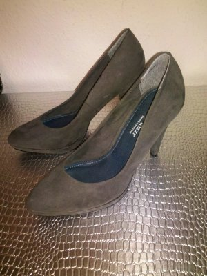 Marco Tozzi Pumps grau Wildleder Optik Gr. 40 NEU