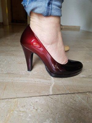 Marco Tozzi pumps rot schwarz Ombre Lack Gr 36