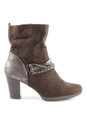 Marco Tozzi Reißverschluss-Stiefeletten bronzefarben-braun Street-Fashion-Look