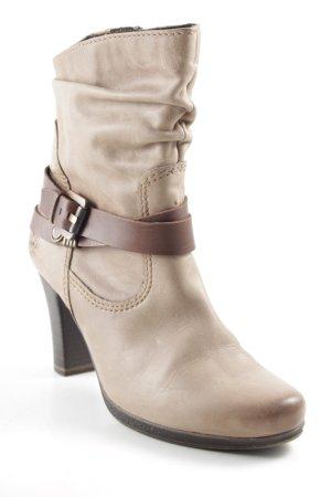 Marco Tozzi Reißverschluss-Stiefeletten graubraun-braun Casual-Look