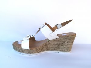 Marco Tozzi Strapped High-Heeled Sandals white leather