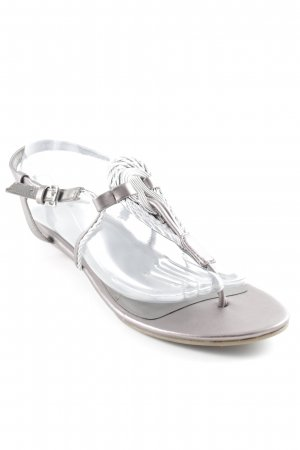 Marco Tozzi Strapped Sandals silver-colored-beige elegant