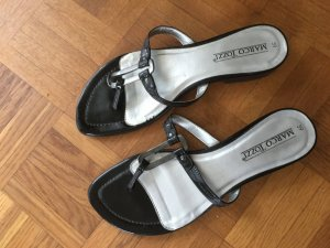 Marco Tozzi High-Heeled Toe-Post Sandals black-silver-colored