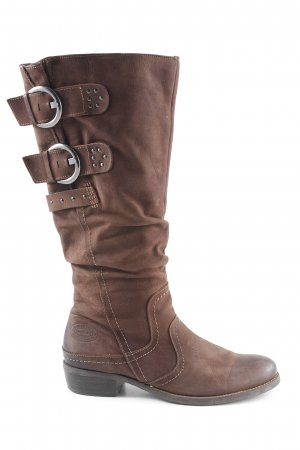 Marco Tozzi Jackboots brown country style