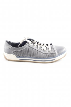 Marco Tozzi Schnürsneaker graublau Casual-Look