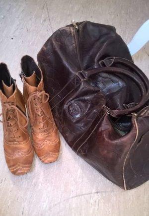 Marco Tozzi schöne Schnür-Stiefel mit Reißverschluss Gr. 40 Echtleder