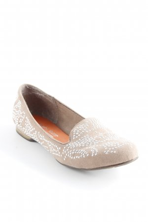 Marco Tozzi Slipper beige Business-Look