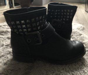 Marco Tozzi Korte laarzen zwart-grijs