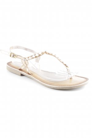 Marco Tozzi Toe-Post sandals rose-gold-coloured-dusky pink beach look