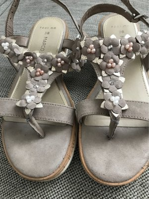 Marco Tozzi Toe-Post sandals grey brown