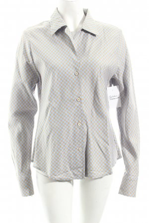 Marco Visconti Hemd-Bluse himmelblau-apricot Karomuster Casual-Look