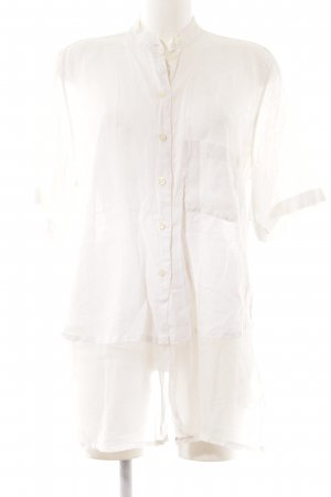 Marco Visconti Blouse en lin crème style simple