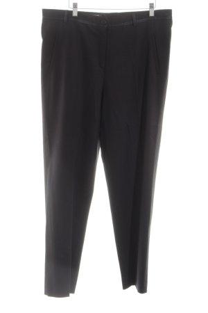 Marcona Pantalone a pieghe nero stile professionale