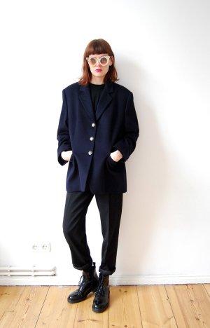 marcona designer jacket blazer dunkelblau reine wolle oversized