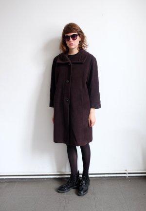 marcona designer wollmantel kaschmir maxicoat S M nussbraun oversize