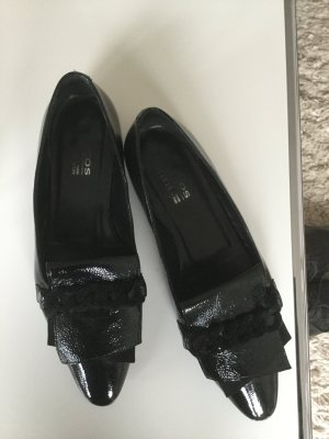 Ballerinas with Toecap black leather