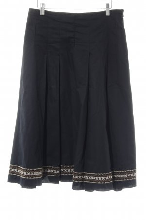 Marella Plaid Skirt black simple style