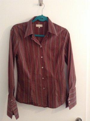 Shirt met lange mouwen karmijn Gemengd weefsel