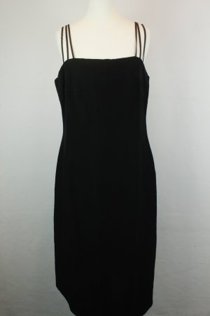 Marella Kleid Trägerkleid Midikleid Gr. ital 46 / dt 40 schwarz