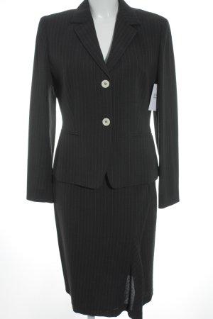 Marella Kostüm dunkelgrau-wollweiß Nadelstreifen Business-Look