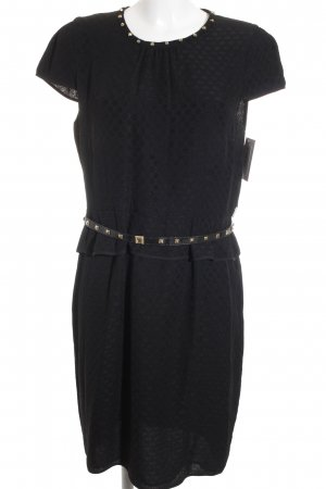 Marella Schößchenkleid schwarz Punktemuster Elegant