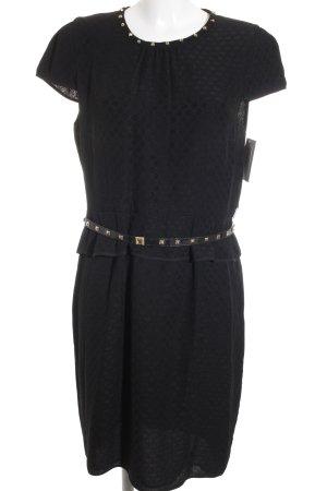 Marella Peplum jurk zwart gestippeld patroon elegant