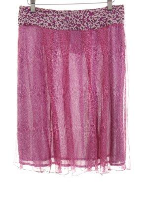 Marella Skaterrock violett-pink Blumenmuster Casual-Look