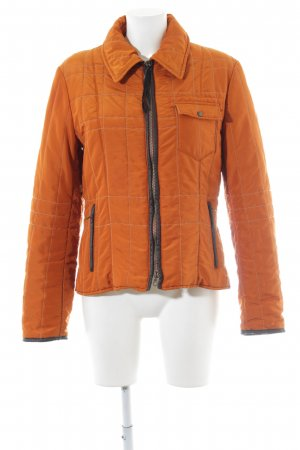 Marella Quilted Jacket light orange-black quilting pattern simple style