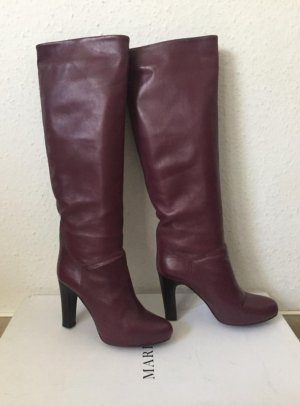 Marella Boots purple leather