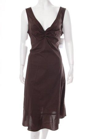 Marella Trägerkleid dunkelbraun klassischer Stil