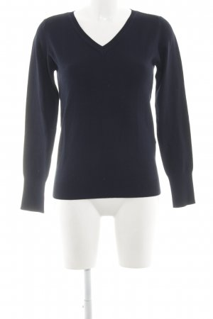 Marella V-Ausschnitt-Pullover schwarz Business-Look