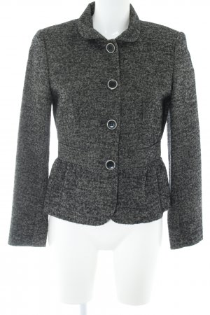 Marella Woll-Blazer schwarz-grau Fischgrätmuster klassischer Stil