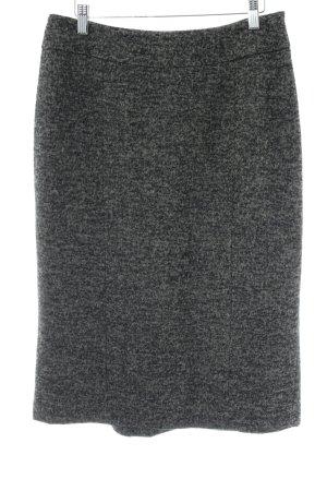 Marella Gonna di lana nero-grigio spina di pesce stile classico
