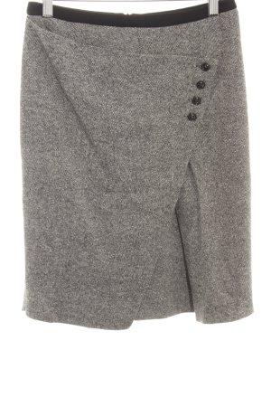 Marella Jupe en laine noir-blanc moucheté style décontracté