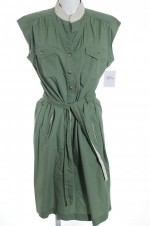 Margit brandt Hemdblusenkleid grasgrün-hellbeige Casual-Look