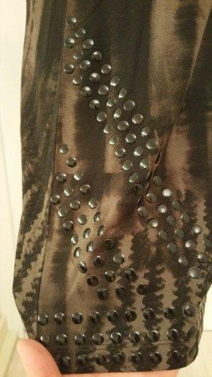 Margittes  Longshirt oder Minikleid in Brauntönen mit Nieten    NEU