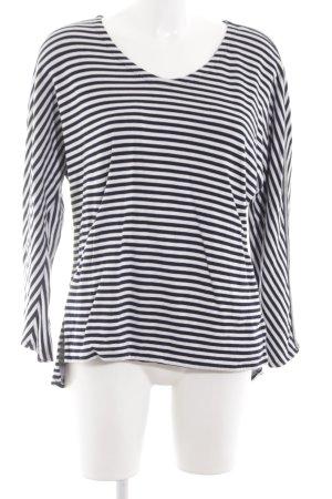 Margittes Longsleeve weiß-dunkelblau Streifenmuster Segel-Look