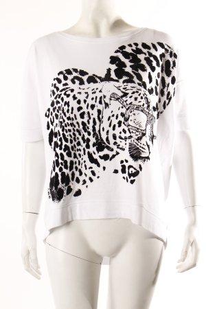 Margittes Shirt Leopard Print weiß
