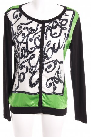 Margittes Knitted Vest black-green mixed pattern extravagant style