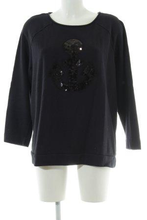 Margittes Sweatshirt schwarz Casual-Look