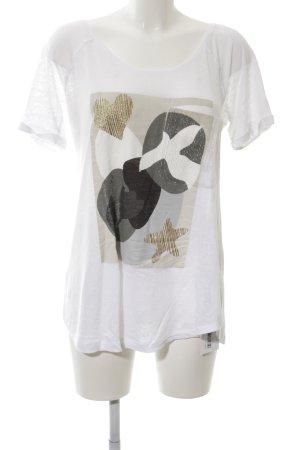 Margittes T-Shirt Motivdruck Casual-Look