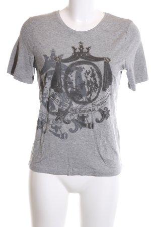 Margittes T-Shirt hellgrau Motivdruck Casual-Look