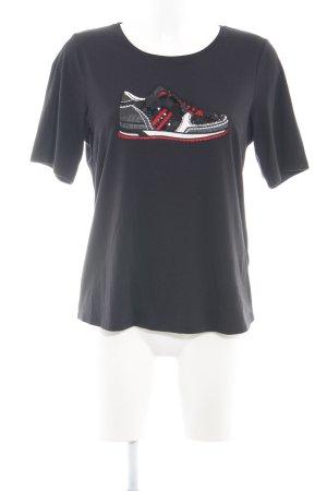 Margittes T-Shirt schwarz Motivdruck Casual-Look