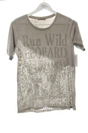 Margittes T-Shirt grau Animalmuster schlichter Stil