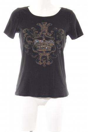 Margittes T-Shirt schwarz Motivdruck Casual-Look