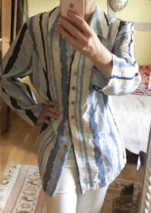 Maria Bellesi Blazer Sommer blau weiß 48